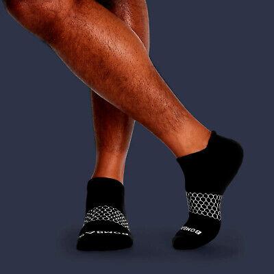 3-Pack Bombas Men's Ankle Socks Black Honeycomb Large 7-12 NWT 3