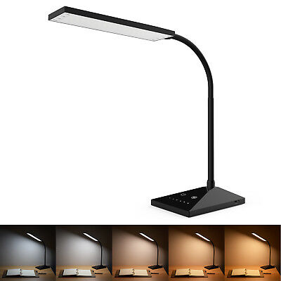 Clip-On Lamp USB Gooseneck Desk Bedside Reading Book Lamp LED Dimmable Light 2