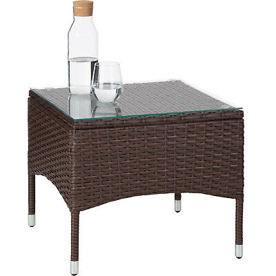 Acier Ensemble De Jardin Poly Rotin Meuble Terrasse Table Chaise Mixed Marron 4