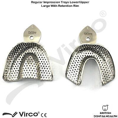 Dental Impression Trays Rim Lock Perforated Regular S, M, L Upper / Lower CE 2