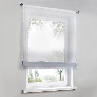 RAFFROLLO RAFFGARDINEN VORHÄNGE Küche Gardinen Fenstergardine Modern  Farbverlauf