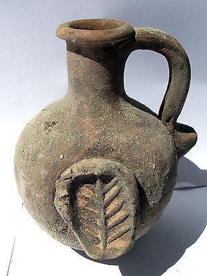 Biblical Ancient coin Antique Jerusalem Jar Holy Land Roman Clay Pottery Jug 6