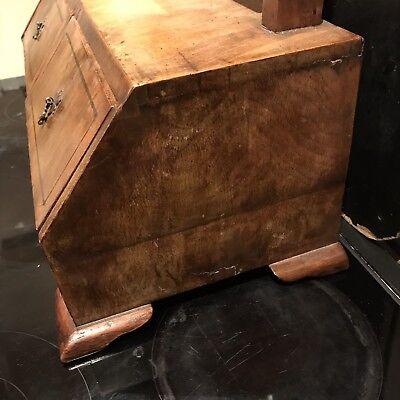 George 1st Ladys Walnut Dressing Mirror With Draws Stand 8