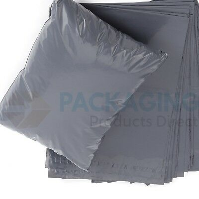 "50 BAGS - 10"" x 14"" STRONG POLY MAILING POSTAGE POSTAL QUALITY SELF SEAL GREY 3"