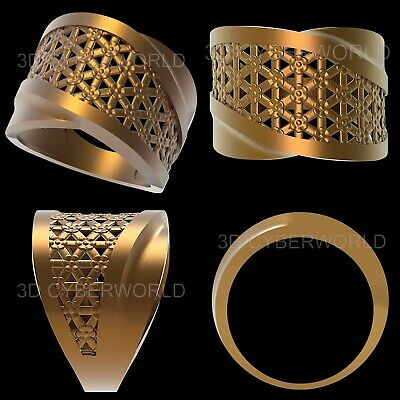 13 Pieces 3D STL Print File Jewelry Gold Silver FINGER Model set for CNC Printer 2