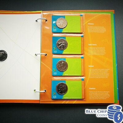 2006 UNC 50C COMMONWEALTH GAMES CYCLING COIN IN COIN HOLDER