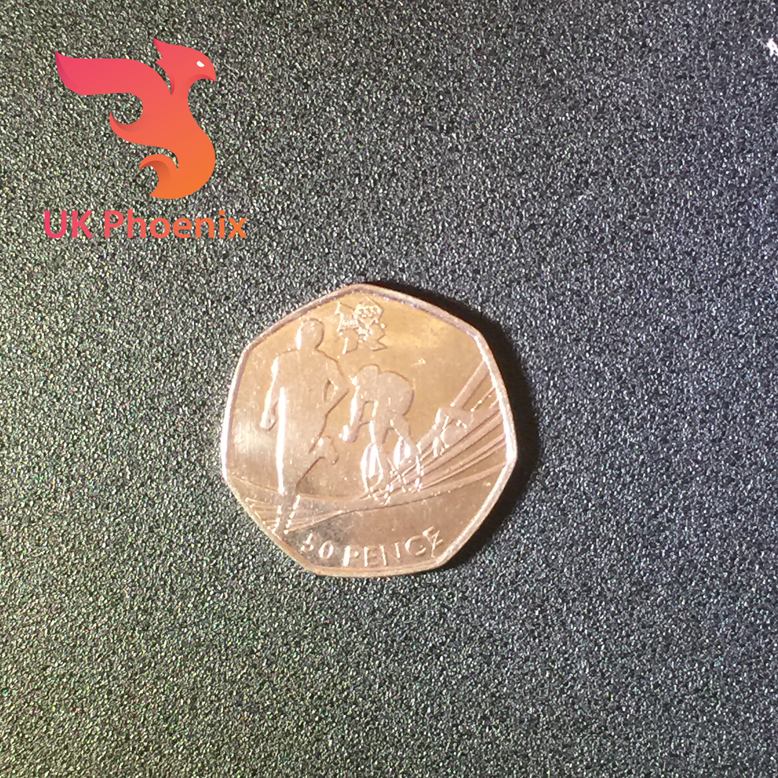 London Olympic 50p coins Fifty pence 2009 Kew Gardens Triathlon Judo Football 6