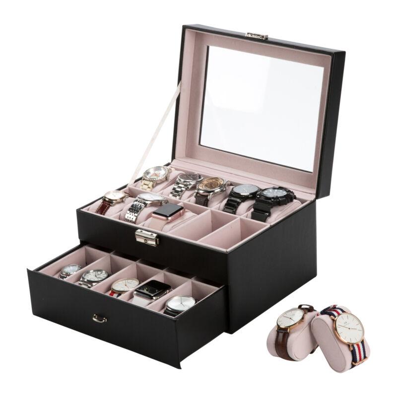Uhrenbox Uhrenkoffer für 20 Uhren Uhrentruhe Uhrenkasten Uhrenschatulle 2