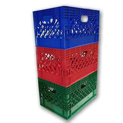 6 X Blue Or Any Other Color You Want Rectangular Milk Crate Rigid Plastic 2