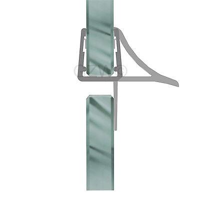 Duschdichtung Wasserabweiser Duschprofil Streifdichtung Schwall 5-8 mm, 20cm-2m 6