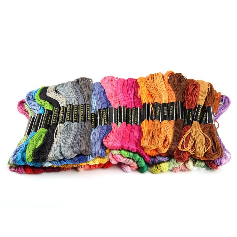 100 Docken Sticktwist Stickgarn 8m 6-fädig Multicolor farblich BUNT DIY  Sticken 7