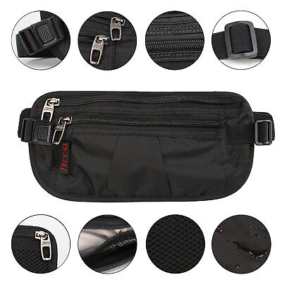 Money Belt travel bag secure waist zip Pouch RFID-Blocking Card/Passport Sleeves 4