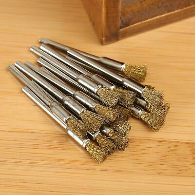 15pcs 5mm Brass Wire Brushes Wheel For Grinder Drill Rust Weld Power Rotary Tool 5