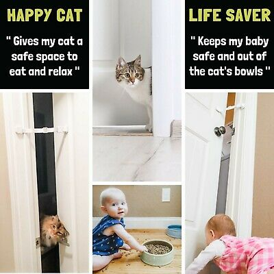 Door Buddy® Child Proof Door Latch | Keeps Baby Out | Lets Cats In. (Caramel) 6