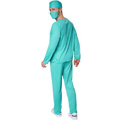 Herrenkostüm OP-Arzt  Halloween Kostüm Karneval Fasching Doktor Krankenhaus 2