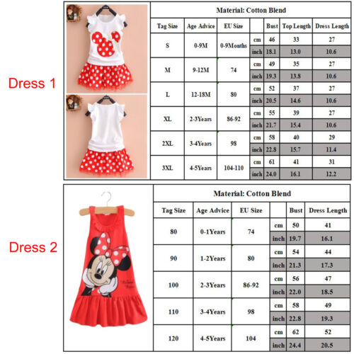 Kids Baby Girls Boys Mickey Minnie Mouse Hoodie Sweatshirt T-Shirt Tops Outfits 8