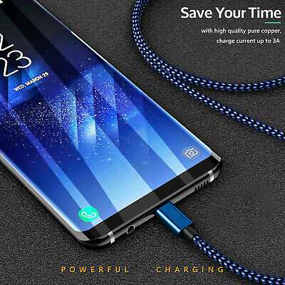 2x Type-C Cable Data Fast Charger Cord For Samsung S8 S9 S10 Plus + S10e Note 10 2
