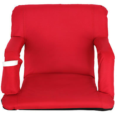 Portable Stadium Seat Chair, Reclining Bleacher Seat Red w/ 5 Assorted Positions 4