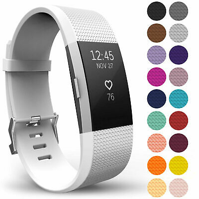 For FITBIT CHARGE 2 strap Replacement Wrist Band Wristband Metal Buckle 7