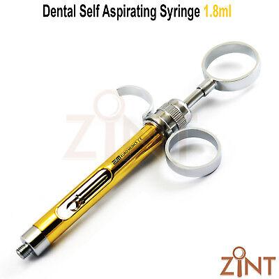 Dentist Self Aspirating Syringe 1.8 ml Dental Cartridge Anesthesia Injection New