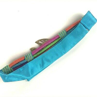 "Womans Designer Belt By Susan Maddox Atlanta Brass Fish Colorful Cord 28-36"" 2"