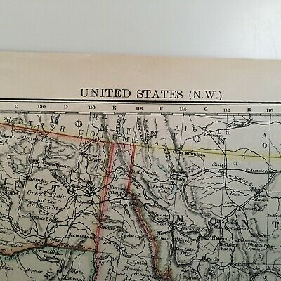 1897 Map Of United States, N.w. And Central Areas 4