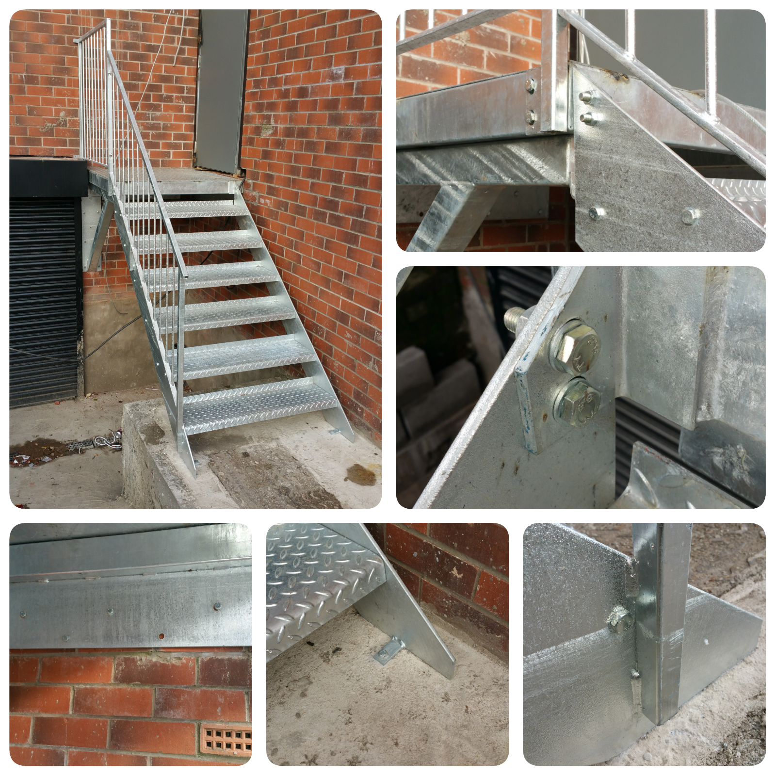 2.4m High Mezzanine Staircase Metal Staircase Fire Escape 750 step £995 + VAT