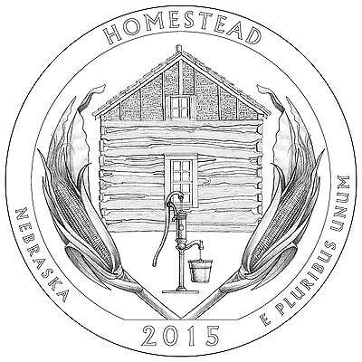 2015 S Dime Nickel Quarter Homestead National Park Clad Proof 5¢10¢ 25¢ p 2018 6