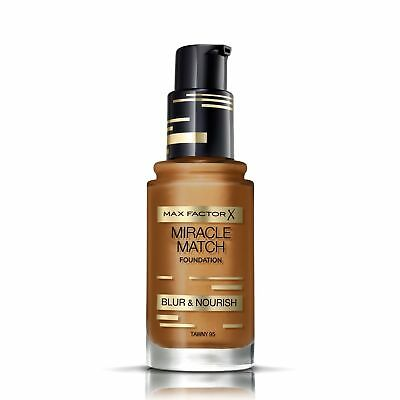 Max Factor Miracle Match Foundation   Tawny 95   Blur & Nourish   RRP £12.99 2