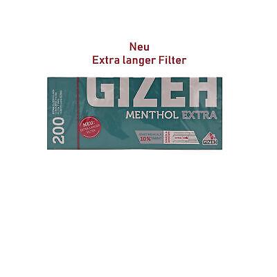 10x 200 = 2000 Gizeh Menthol Extra Filterhülsen 2