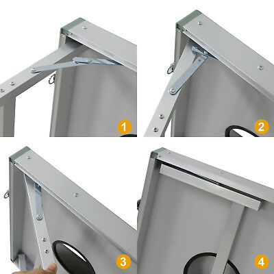 CornHole Bean Bag Toss Game Set Aluminum Frame Portable Design W/ Carrying Case 5