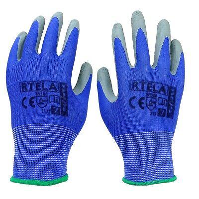 Arbeitshandschuhe Handschuhe Montagehandschuhe Latex Blau Grau Gr. 7-11 NEU TOP 2