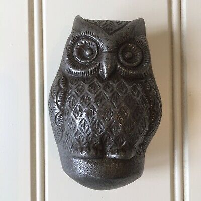 Owl Cast Iron Door knocker Antique Iron Vintage Country Cottage Style 3