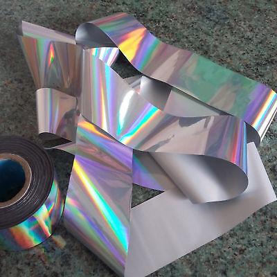 HOLOGRAPHIC NAIL ART foil sticker silver foils iridescent manicure pedicure  UK