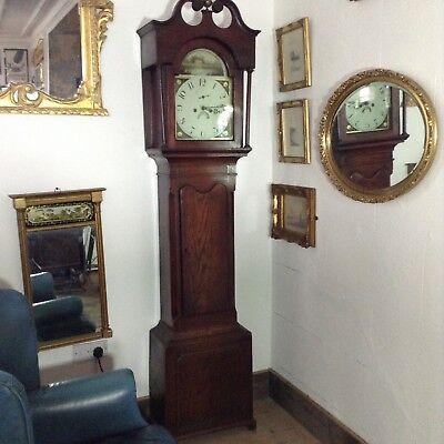 Antique Oak Grandfather Clock 3