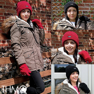 THMO - Ladies Outdoor Thermal Winter Chenille 3M 40 gram Thinsulate Lined Gloves 2