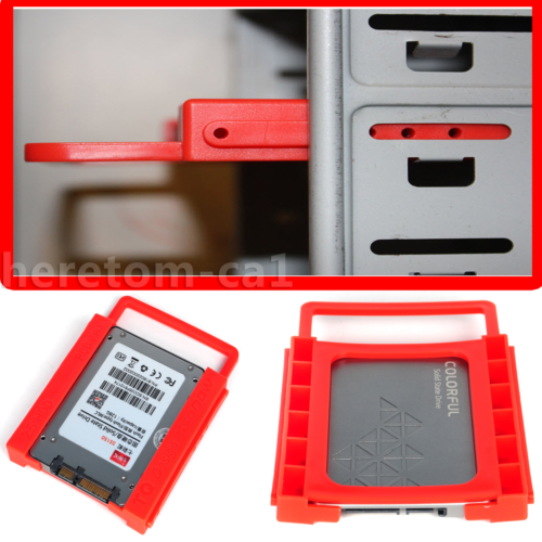 """New 2.5/"""" to 3.5/"""" Adapter Bracket SSD HDD Hard Drive Tray Caddy Bay BLK35TO25"""