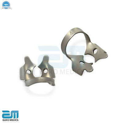 Dental Rubber Dam Clamps Molars Tooth Isolation Dentist Endodontic Instrument CE 10