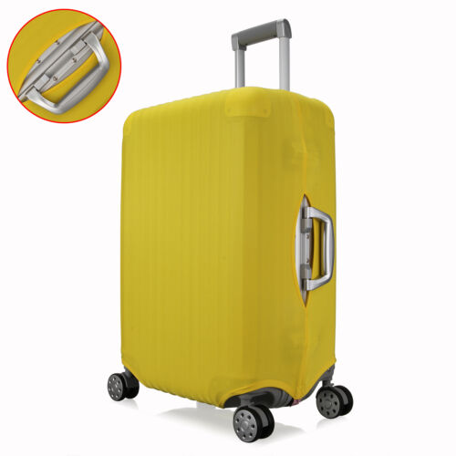Stretchy Travel Luggage Suitcase Multi Size Spandex Cover Protector Solid Style 2