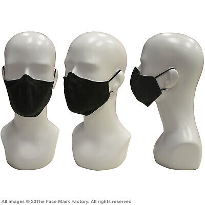 Adult Face Covering Mouth Nose Protection Washable Reusable Black Breathable UK 4