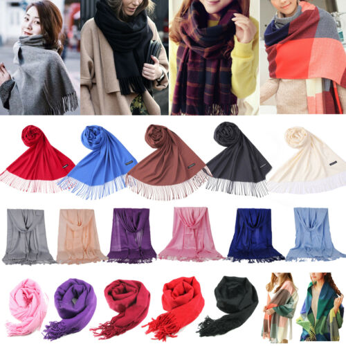 Women Ladies Soft Long Neck Large Flower Scarf Wrap Shawl Pashmina Stole Scarves