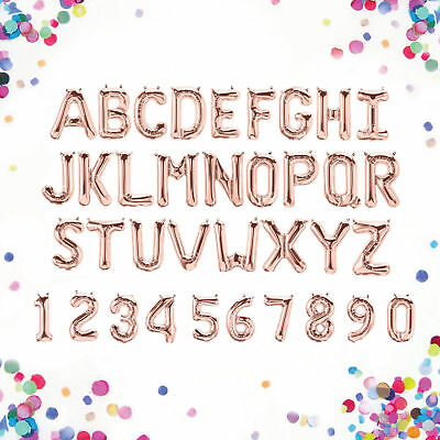 Rose Gold Alphabet Letter &Number Foil Balloons Personalised Birthday Party Name 3