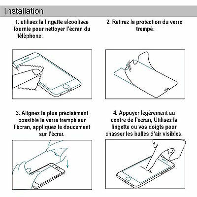 iPhone 8/7/6/6S/PLUS/X/5/XS Vitre protection VERRE trempé Film d'écran INTEGRAL