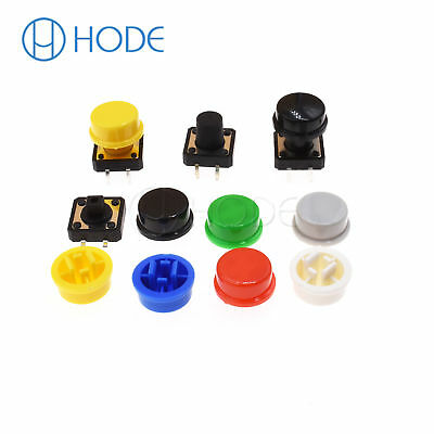 Momentary Tactile Push Button Touch Micro Switch 4P PCB Caps 12x12x7.3mm-12mm UK 3