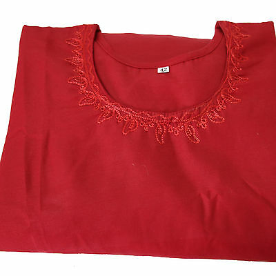 Salwar Kameez,3-teilig,Kleid,Hose,Schal,GR.38 INDIEN,Punjabee,Bollywood /40U Rot