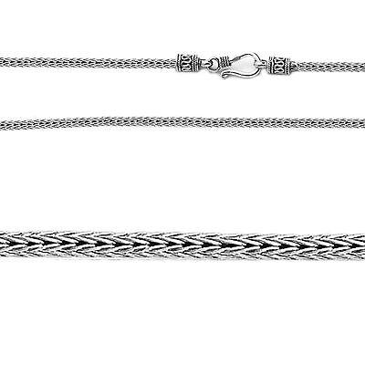 Fox Tail Sterling Silver Bali Chain 3 mm