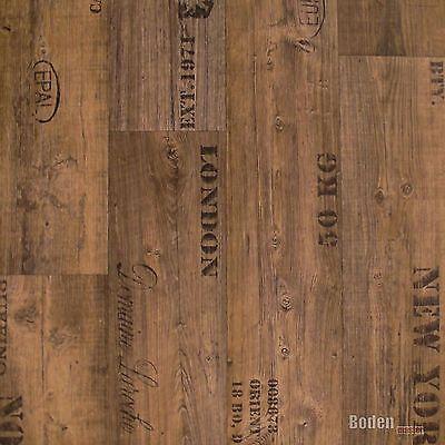PVC Bodenbelag Rustikal Dunkel mit Aufdruck Presto 549 Breite 3 m - 1m²/11,90 € 3