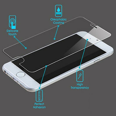 2x NUGLAS Tempered Glass Screen Protector for Apple iPhone X 8 7 6 5 Plus XS Max 6