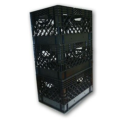 6 X Blue Or Any Other Color You Want Rectangular Milk Crate Rigid Plastic 3