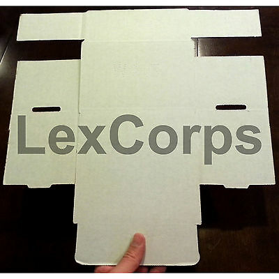 White Corrugated Mailers MANY SIZES 50 100 200 Shipping Packing Fold Box 3